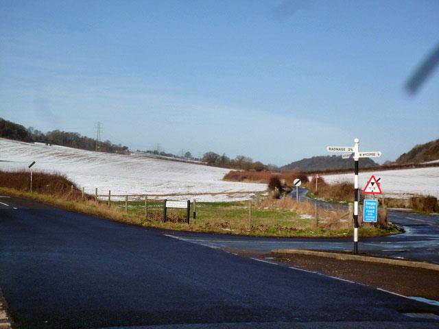 snow-crossroad
