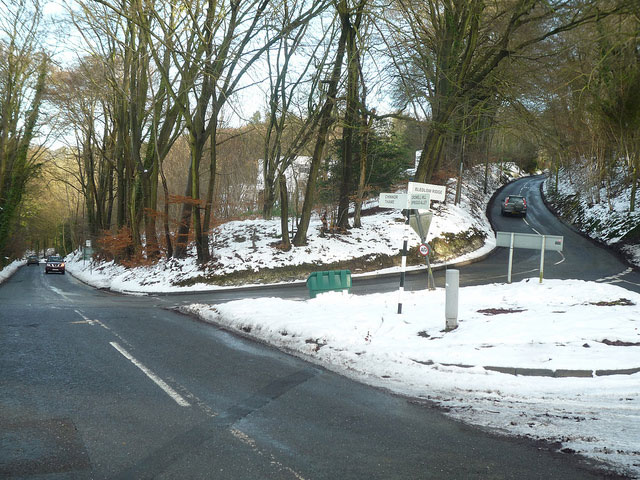 Chinnor Hill in winter. This is the mini-hairpin and will make a good point to watch the race.