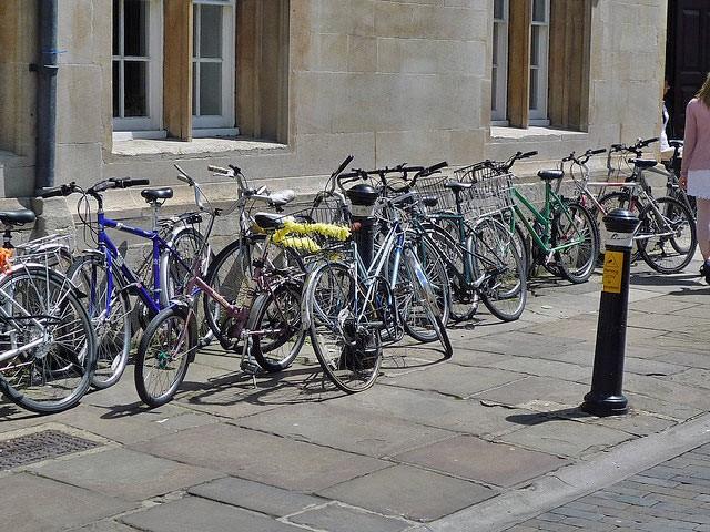 parked-bikes-on-pavement