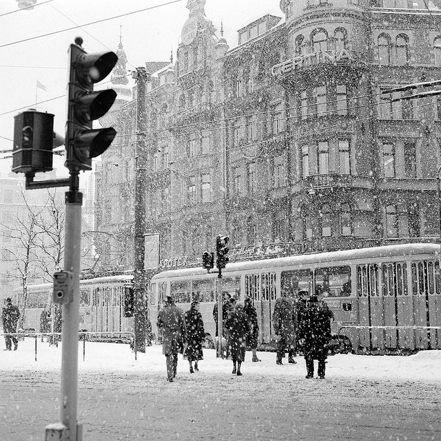 Traffic lights Stockholm 1957