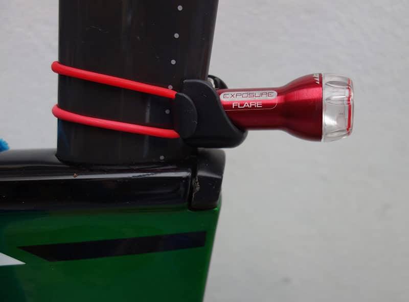 Rear light for aero seat post -