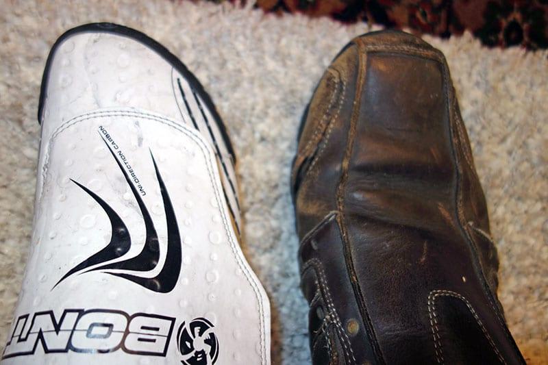 bont-v-worn-shoe