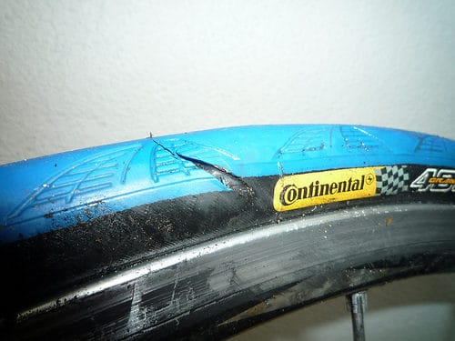 punctured-tyre