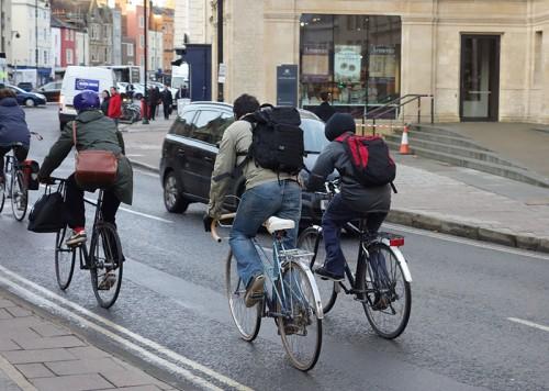 Cyclists -backpacks