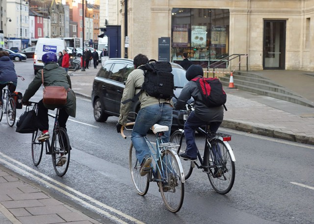 Cyclists -backpacks