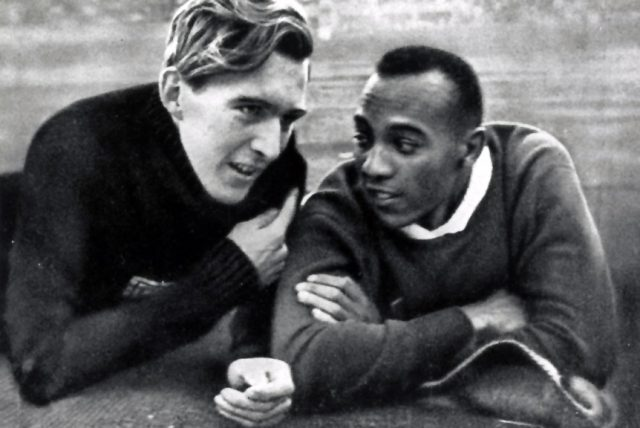 Jesse Owens and Luz Long at the Berlin Olympics, 1936