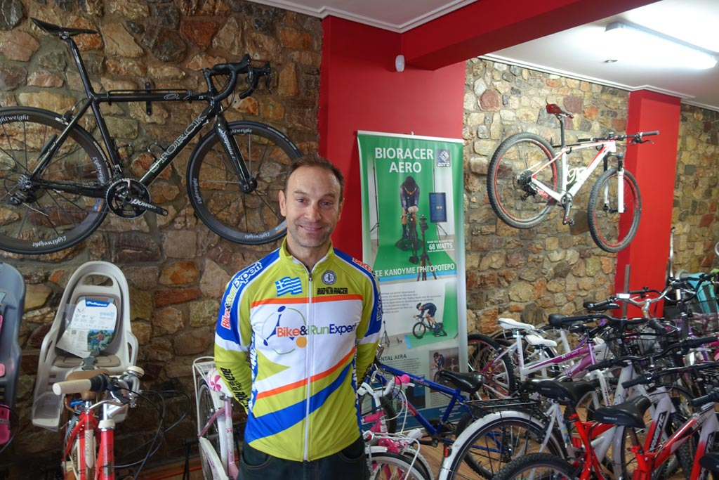 kosmas of Bike Run. The Greek distributor of Bioracer Aero